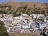 Hillside Human Settlement in Durgapur, Rajasthan, India Photographic Print by David H. Wells