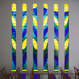 Stained Glass in the Chapel of the Rosary at Vence, 1948-51 Papier Photo par Henri Matisse