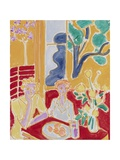 Two Girls in a Yellow and Red Interior, 1947 Giclée-trykk av Henri Matisse