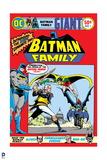 Batman: Batman Family Cover with Batman Robin and Batgirl Fighting a Villan Poster