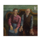 The Artist's Parents II, 1924 Gicléetryck av Otto Dix