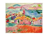 View of Collioure, c.1905 Giclée-tryk af Henri Matisse