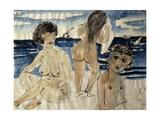 Bathers on the Beach; Badende am Strand, 1923 Giclée-Druck von Otto Dix