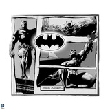 Batman: Batman Dark Knight Comic Strip Black and White Posters