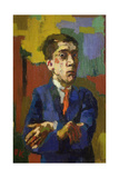 Self Portrait with Crossed Arms, 1923 Giclee Print by Oskar Kokoschka