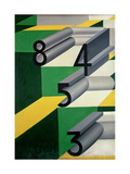 Amorous Numbers / Numbers in Love, 1924 Impression giclée par Giacomo Balla