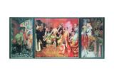 'Grosstadt' (Urban Debauchery) 1927-28 (Triptych) Giclée-Druck von Otto Dix