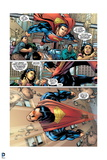 Superman: Superman Flying Comic Panel (Dialogue) Posters