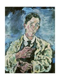 Self Portrait, 1917 Giclee Print by Oskar Kokoschka