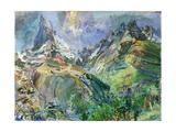 Matterhorn I, 1947 Giclee Print by Oskar Kokoschka