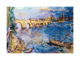 Charles Bridge in Prague Giclee Print by Oskar Kokoschka