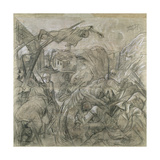 Study for the Central Panel of the 'War' Triptych, 1930 Gicléetryck av Otto Dix