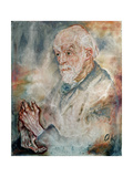 Portrait of August Henri Forel Giclee Print by Oskar Kokoschka