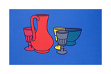 Coloured Still Life, 1967 Giclee Print by Patrick Caulfield