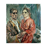 Self Portrait with Alma Mahler (1879-1964) Giclee Print by Oskar Kokoschka