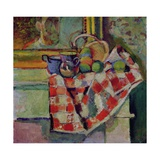 Still Life with a Checked Tablecloth, c.1903 Giclée-trykk av Henri Matisse