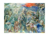 Central Panel of the Thermopylae Triptych, 1954 Giclee Print by Oskar Kokoschka