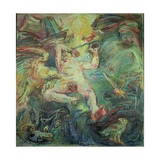 Prometheus, Panel from the Myth of Prometheus Triptych, 1950 Giclee Print by Oskar Kokoschka