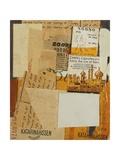 Katarinahissen, 1936 Impressão giclée por Kurt Schwitters