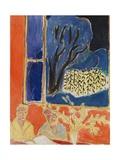 Two Girls in a Coral Interior, Blue Garden, 1947 Giclée-trykk av Henri Matisse