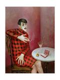 Otto Dix - Portrait of the Journalist Sylvia Von Harden (1894-1963) 1926 Digitálně vytištěná reprodukce