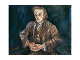 Adolf Loos, 1909 Giclee Print by Oskar Kokoschka