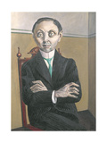 Portrait of Paul F. Schmidt, 1921 Giclee Print by Otto Dix