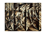 Velocity of Cars and Light, 1913 Gicléetryck av Giacomo Balla