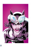 Batman: Catwoman with Angry Face and Claws Showwing with Reflections of Catwoman and Ivy in Goggles Posters