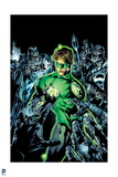 Green Lantern: Green Lantern Surrounded by Enemies (Color) Poster