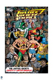 "Justice League: Justice Society of America ""The Justice Society Fights for a United America"" Prints"