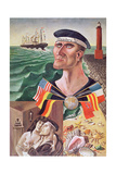 The Goodbye to Hamburg, 1921 Giclee Print by Otto Dix