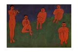 Music, 1910 Giclée-trykk av Henri Matisse
