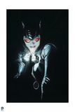 Batman: Catwoman Cover Art Close Up All Black with Face Lit by Diamond She Is Holding Prints