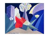 Fireworks, 1915 Gicléetryck av Giacomo Balla