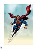 Superman: Superman Flying Art