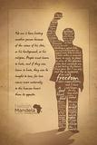 Nelson Mandela - Silhouette Posters