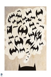 Batman: Poster with Top of Batans Ears and Thought Bubble with Bats in It Posters