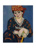 The Red Madras Headdress, 1907 Giclée-trykk av Henri Matisse