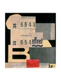 Collage M2 439, 1922 Impressão giclée por Kurt Schwitters