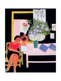Reader on a Black Background, 1939 Giclée-trykk av Henri Matisse