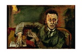 Karl Kraus II (1874-1936) 1925 Giclee Print by Oskar Kokoschka