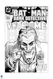 Batman: Black and White Batman Dark Detective Cover Prints