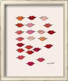 Lèvres Reproduction giclée encadrée par Andy Warhol