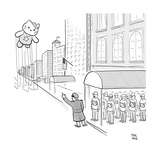 Hello Kitty Thanksgiving Float - Cartoon Giclee Print by Paul Noth