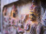Details in a Shrine in Changu Narayan, Nepal Photographic Print by David H. Wells
