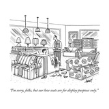 """I'm sorry, folks, but our love seats are for display purposes only."" - New Yorker Cartoon Premium Giclee Print by Tom Cheney"