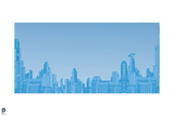 Superman: City Skyline in Blue Prints
