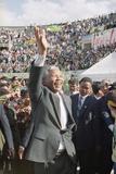 Nelson Mandela in Japan Photographic Print by Itsuo Inouye