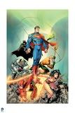 Justice League: Superman, Wonder Woman, Green Lantern, Batman, Aquaman, Cyborg, Batman and Flash Prints